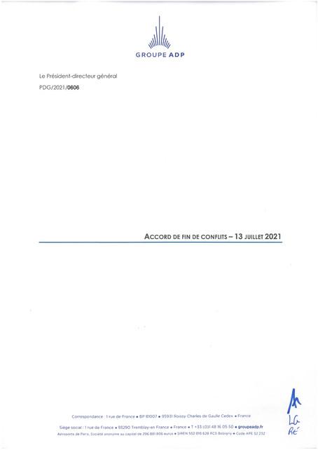 Accords de fin de conflits - 13 juillet 2021