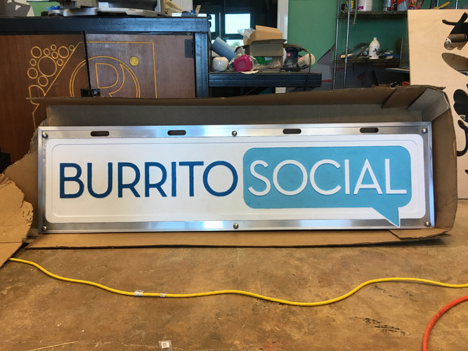 Shop sign - Burrito Social