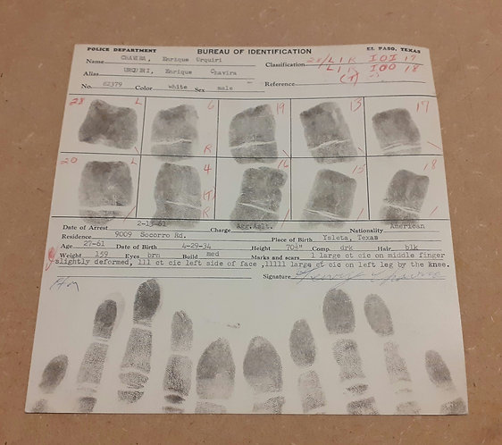 Fiche d'identification de police