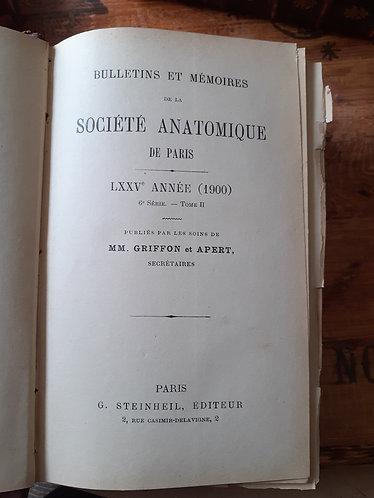 Bulletin et mémoires de la société anatomique de Paris