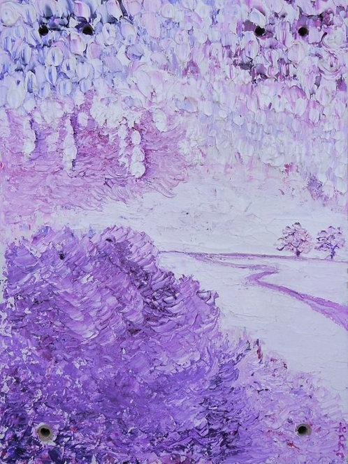 Landscape Painting - Purple Landscape