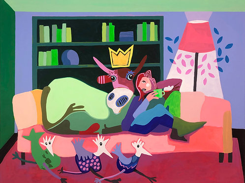Lazy Sunday Afternoon 80 x 100 x 4 cm
