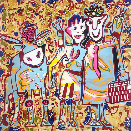 We are Family 80 x 80 cm