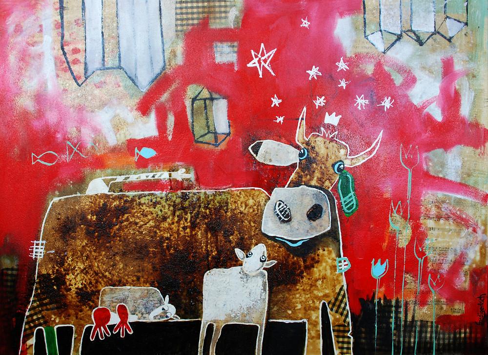 BabyNoël als Weihnachtskarte - Kuhle Bilder Fredi Gertsch