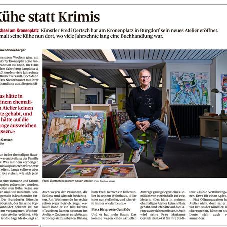 Mein neues Atelier! In der Berner Zeitung!