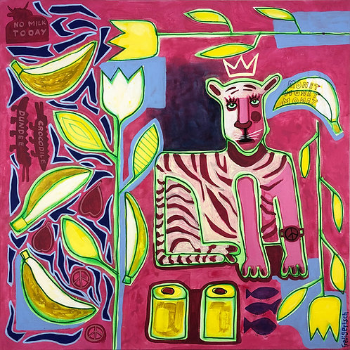 Save the Tiger 80 x 80 cm