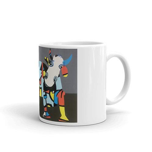 Weiss glänzende Tasse