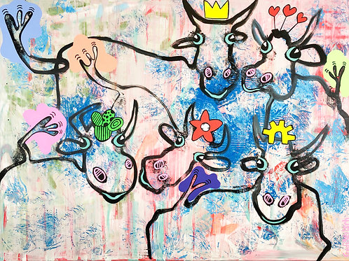 We are family 90 x 120 cm