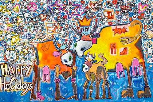 Happy Winter Holidays 100 x 150 cm