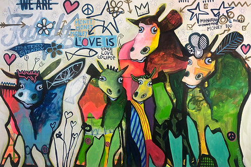 We are family 100 x 150 cm