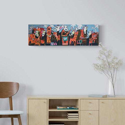 Alpaufzug 30 x 100 cm