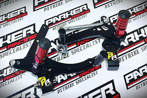 Pit Bike Adjustable Linkage Foot Peg Kit Rearsets