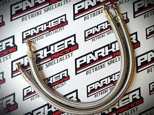 Pit Bike Race Braided Oil Cooler Hose Kit