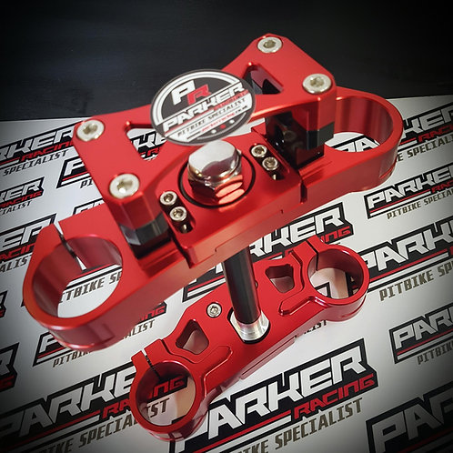 Pit Bike CNC Adjustable Rake Triple Clamp Set