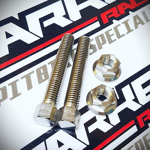 Pit Bike Titanium Chain Adjuster Bolt Set