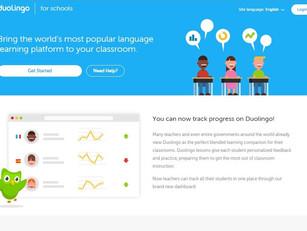 פלטפורמת לימוד שפה בכיתה Duolingo schools