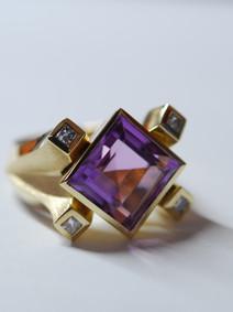 Amethyst und Diamant