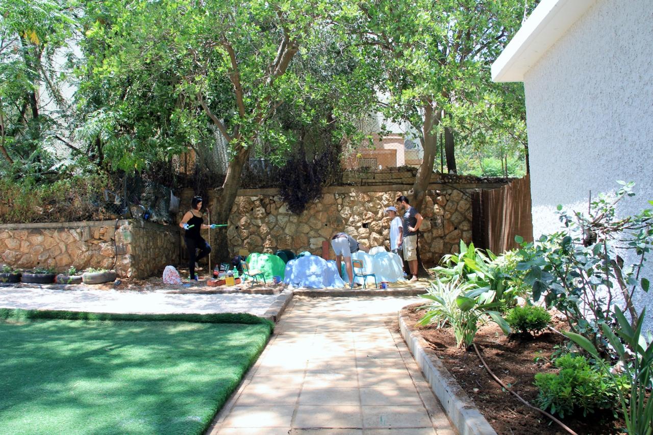 הגינה ושביל הכניסה