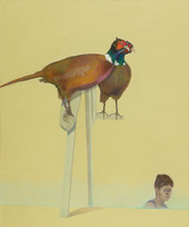 Self portrait with a bird