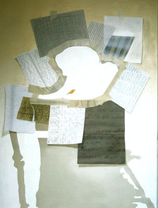 A drawing depicting stages of the development of the final painting 1