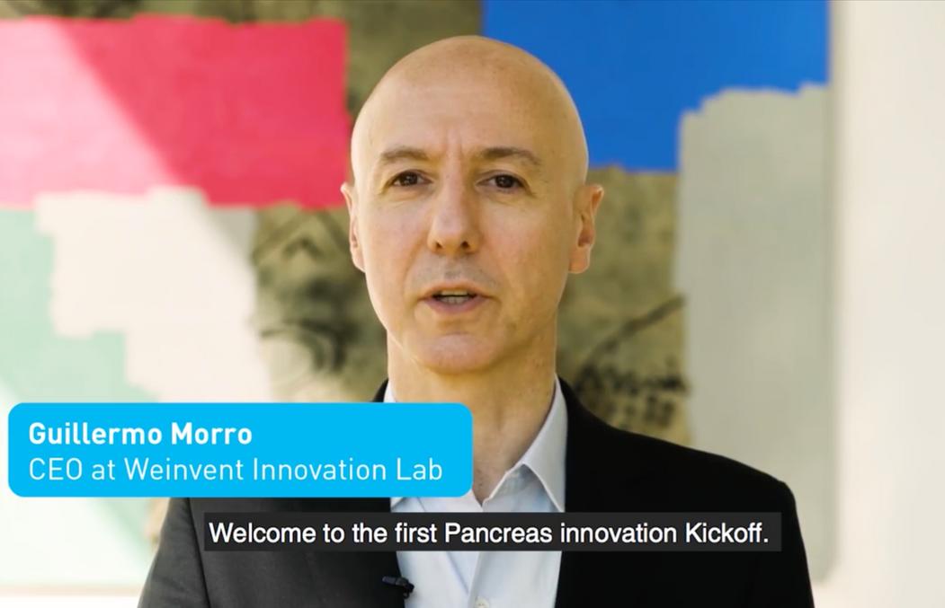 Guillermo Morro en la apertura del video de convocatoria al hackathon Pancreas Innovation Kick-Off.