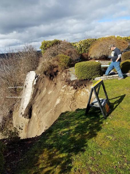 Scary Hillside Stabilization