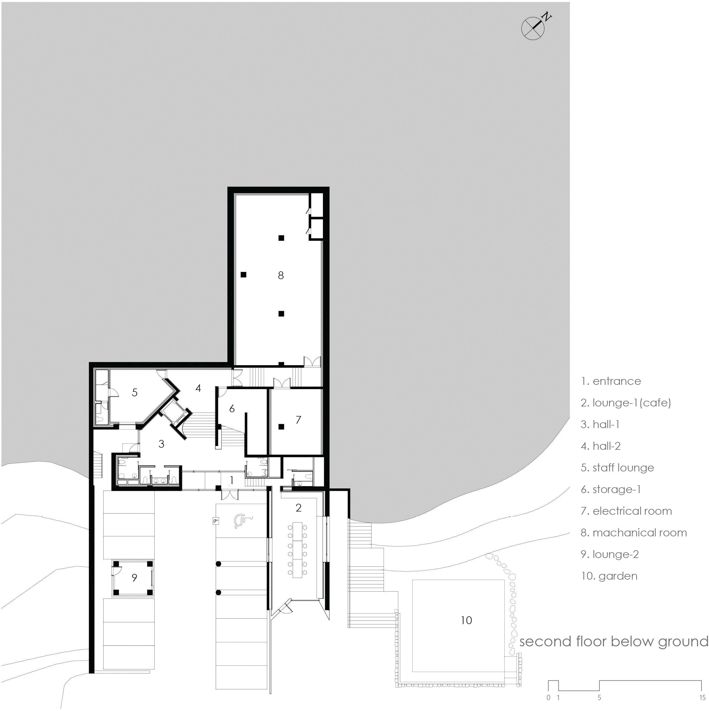 second floor below ground