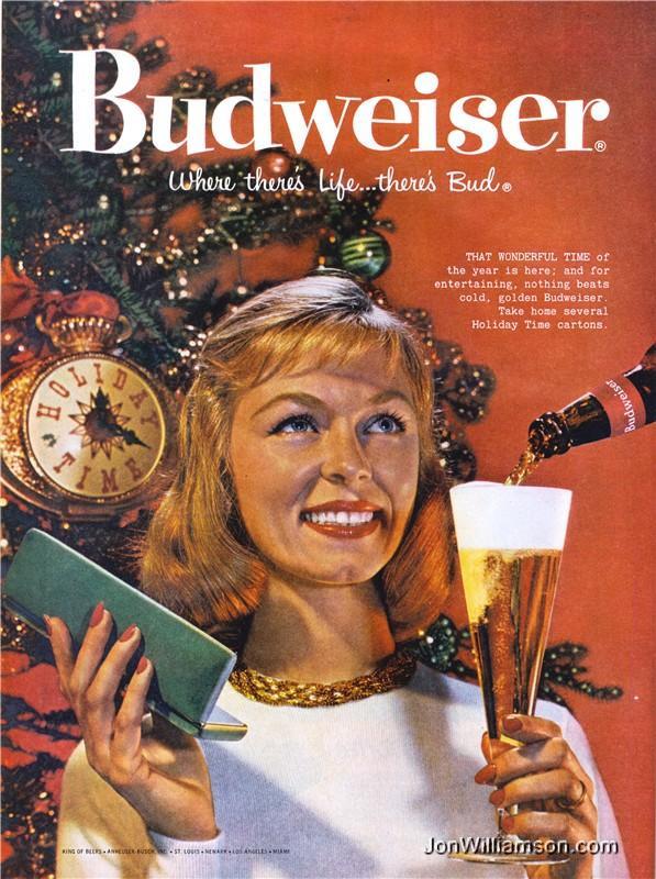 Budweiser-jouluolutmainos.