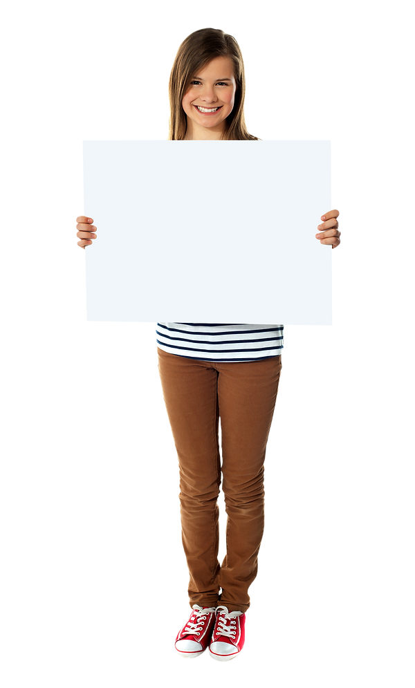 Girl Holding Banner - 2535x4203.png