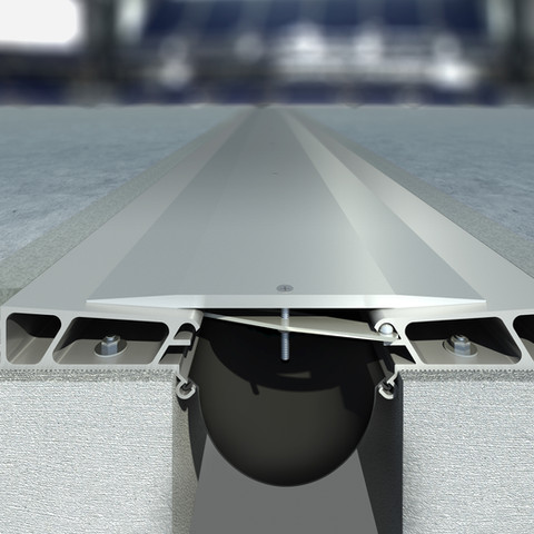 Lucas Oil Stadium expansion joint