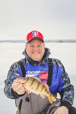 Ice fishing Devils Lake
