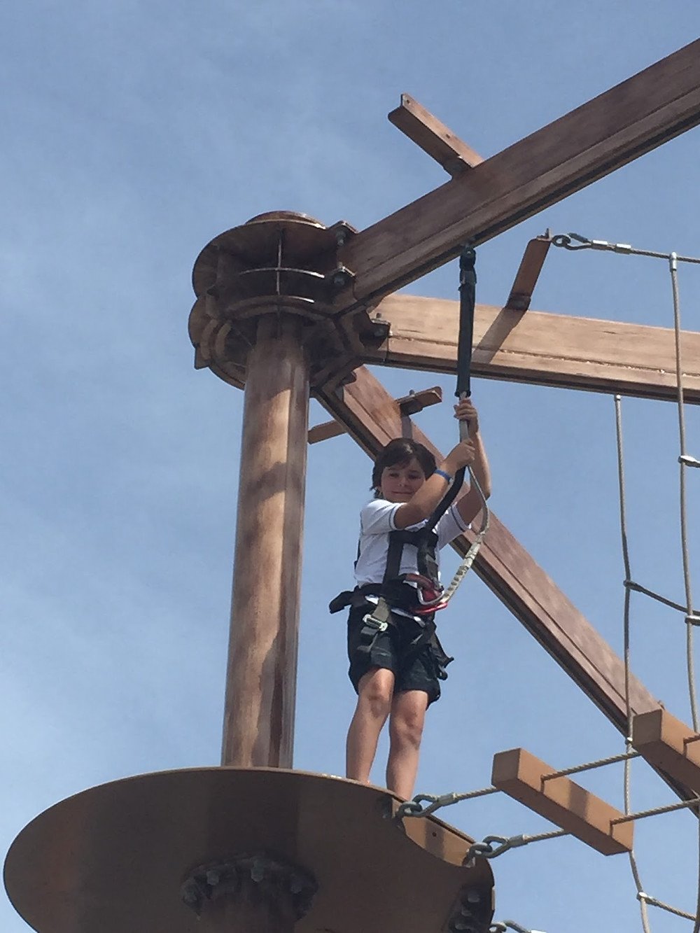 B on the ropes course