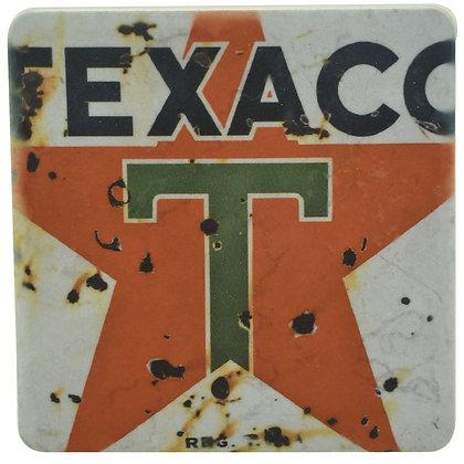 Retro Texaco Sign Tile Coaster