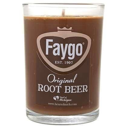 Faygo Root Beer Candle 8 oz.