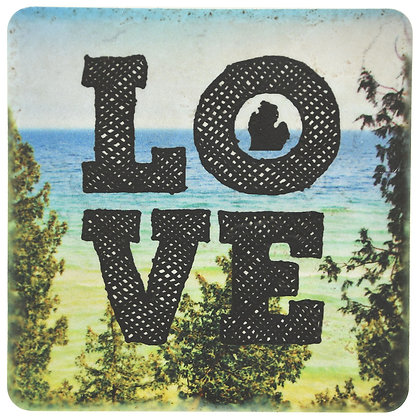 Great Lakes Love Tile Coaster