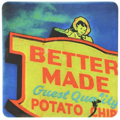 Better Made® Chips Sign Tile Coaster
