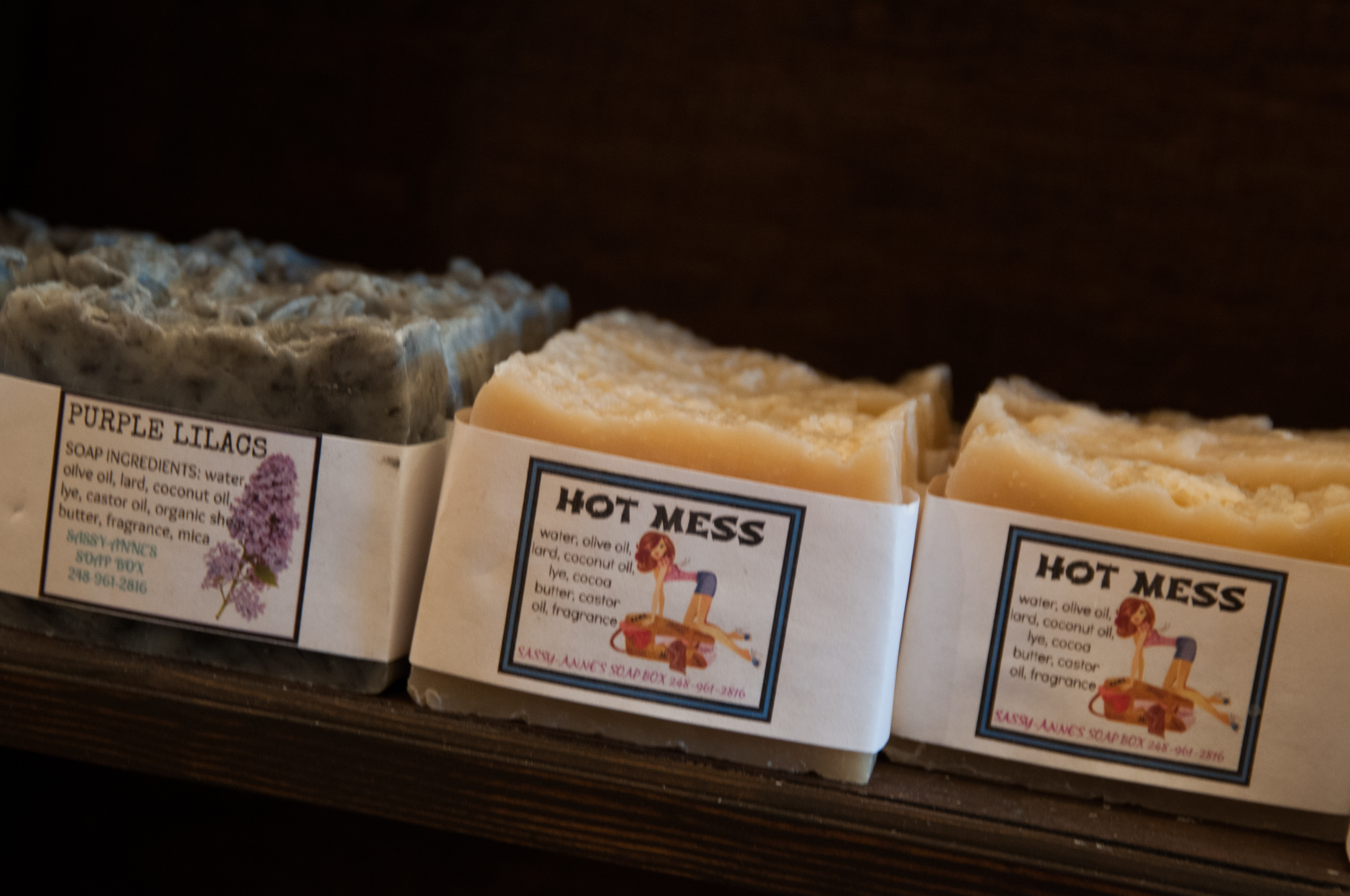 Hand-crafted soaps