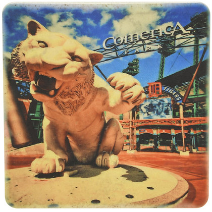 Comerica Tiger Tile Coaster