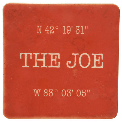 The Joe (Louis Arena) Coordinates Red Tile Coaster