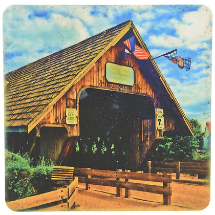 Frankenmuth Covered Bridge Tile Coaster
