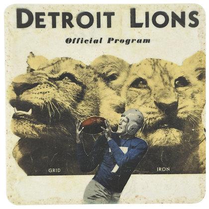Vintage Detroit Lions Tile Coaster