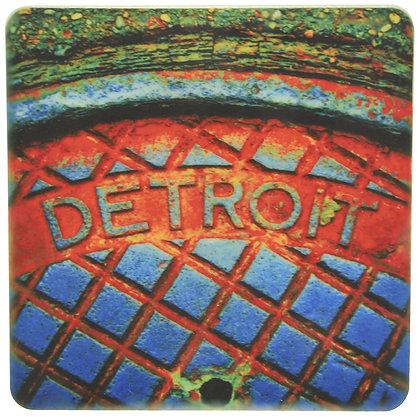 Detroit Steamhole Tile Coaster