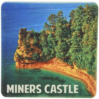 Miners Castle Tile Coaster