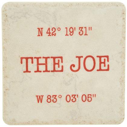 The Joe (Louis Arena) Coordinates White Tile Coaster