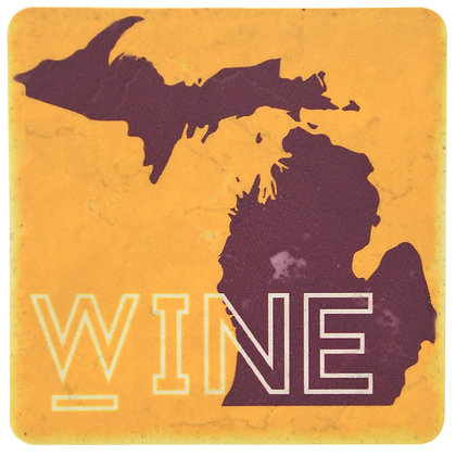 Wine Michigan Tile Coaster