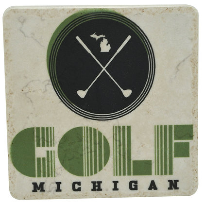 Golf Michigan Tile Coaster
