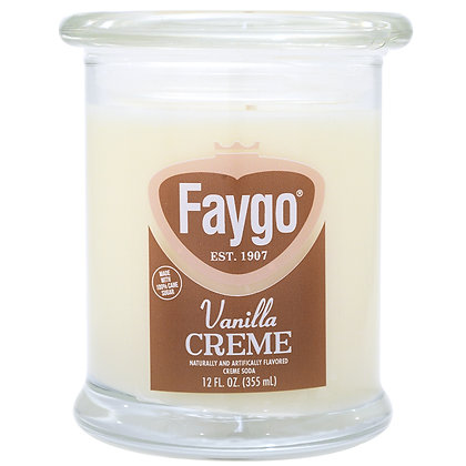 Faygo Vanilla Creme Soda Candle 12 oz.