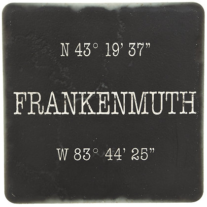 Frankenmuth Coordinates Black Tile Coaster