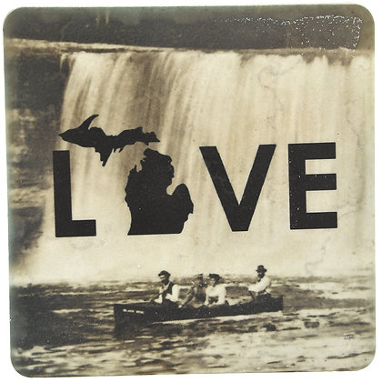 Love Canoe Tile Coaster