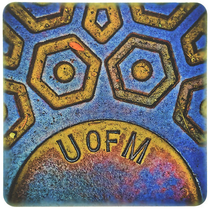 U of M Steamhole Cover Tile Coaster